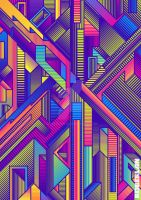 Abstract Lines Faux Gradients Psychedelic Vectors by roberlan