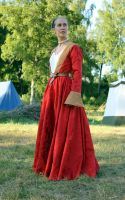Red Habsburg gown by PetStudent