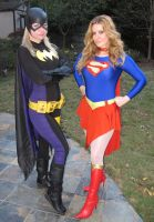 Batgirl and Supergirl by sleeperkid