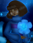 Frisk at Waterfall by Liphoeryx