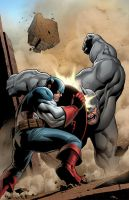 Captain America Vs The Rhino by GURU-eFX