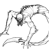 Necromorph doodles: Leaper. by Kyaatto