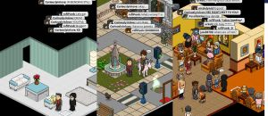 MAKO AND AMON ARE ROCKING HABBO HOTEL by CuriouslyXinlove