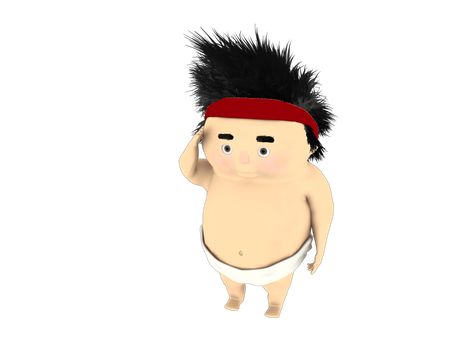 Ken the Sumo boy by calcipher