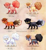 Vulpix variations by ShinePawArt