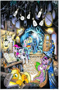 Mlp 17 Star Swirl's library by andypriceart