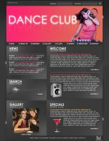 Web Interface - Dance Club by Solaris07