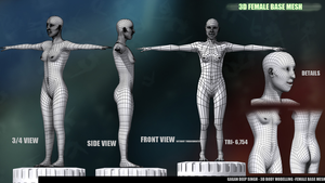 3d Female Base Mesh by GDSWorld