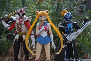 Shinkenger, SailorMoon, Wizard by BoboMagroto