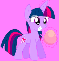 Twily found a PINK egg!! by HeartinaThePony