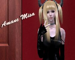 Death Note-Aname Misa in Sims by NegativeDanna