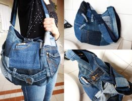 Jeans Patchwork Bag by ajnataya