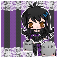 chibi miss grave by linkitty