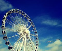 Wheel in a Blue Sky by ambermariaalice