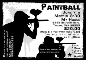 Paintball Flier by beefcoat