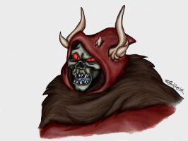 Disney Villains Portrait Series: Horned King by Lady-in-Ink
