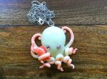 Octopus pendant by cheese-cake-panda