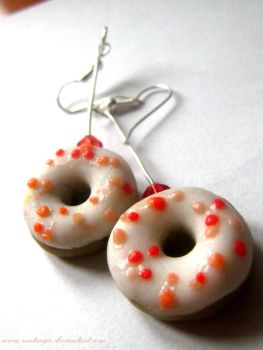 Strawberry donuts-Hand Made Ea by Rontarija
