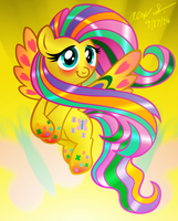 Rainbow Power Fluttershy by AleximusPrime