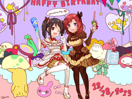 LoveLive!:Nico and Maki by quackmire