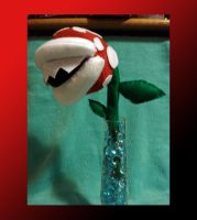 Piranha Plant and Pattern by Beckylynne