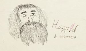 Hagrid, a sketch by OtterAndTerrier