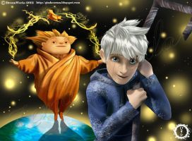 Jack Frost and Sandman by hisui1986