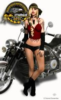 Biker Chick 5 by donnaDomenitzo