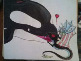 Orca Kisses! by AmericanBlackSerpent