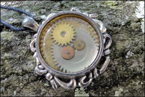 Oval Steampunk Pendant by TheClockworkCrow