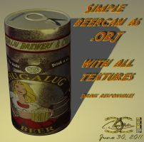 Beercan as .OBJ by ancestorsrelic