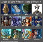 2014 Monthly Art by AriochIV