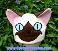 Siamese kitty ear hat by The-Cute-Storm