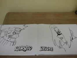 Naruto vs Sasuke by superheroarts