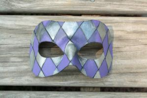 lavender and silver harlequin by SilverCicada