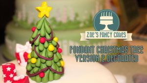 Fondant Christmas Tree Version 2 Decorated video by zoesfancycakes