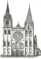Catedral de Chartres by Cerine-chan