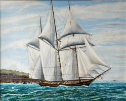 Great lakes top sail schooner by John-Tansey