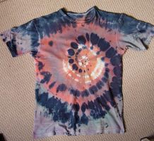 Mottled sunset -tie dye shirt by Metalheank
