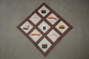Sushi Quilt! by 8-BitQuilter