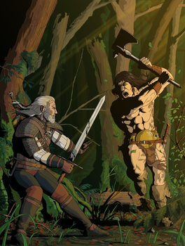 The Witcher Vs Conan by Torey-Nelson