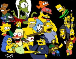 The Simpsons Charachters by The-Simpsons-Fanclub