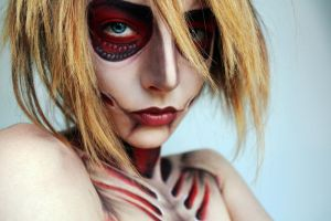 Annie Female Titan Cosplay make-up by MissFlavour
