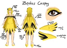 Zapdos Cosplay by IcyPanther1
