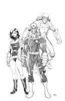 New Warriors Sketch by RAHeight2002-2012