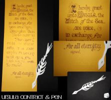 Ursula's Contract and Pen by smallvillereject