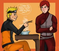 NaruGaara: Lunch with the Kages by Baka-no-Neko