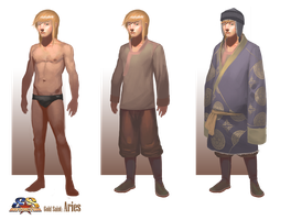 Aries Body Type with Basic Clothing by Asashi-Kami