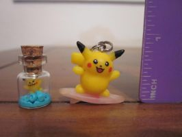 Surfing Pikachu and Bottle Experiment by minnichi