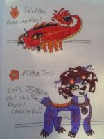My Skylanders Tailfire and Piper Tech by 932-2063